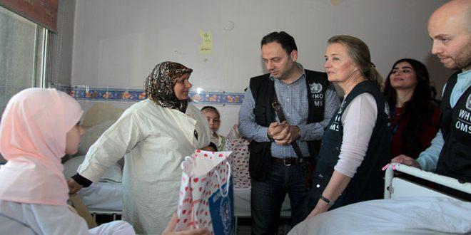 SYRIE L_Organisation mondiale de la Santé offre un don médicale de 1 million de dollars à l_hôpital pédiatrique de Damas Santé-1