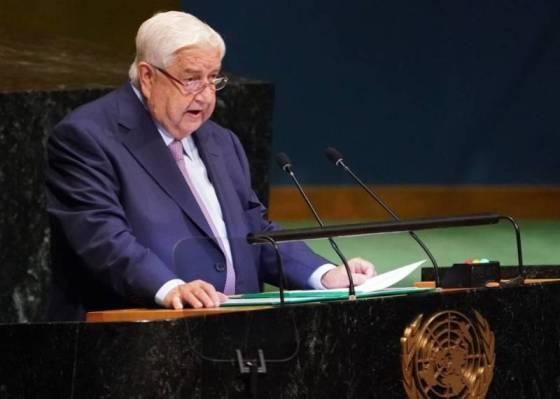 syrie Le chef de la diplomatie syrienne, Walid al-Mouallem à l'ONU 2018,362139-01-08-1538233296_56_484512_large