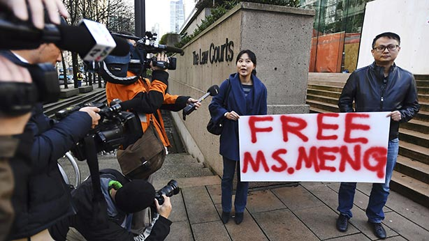 CHINE CANADA USA la communauté des Canadiens d_origine chinoise ont réclamé la libération sous caution de Meng Wanzhou.editorial_122018_03