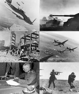 Le terme de front de l_Est, ou Grande Guerre patriotique, appellation soviétique, désigne, la Seconde Guerre mondiale, le théâtre d'opérations qui oppose l'Allemagne nazie à l'Un