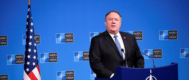 OTAN USA Le secrétaire d'État Mike Pompeo au siège de l'Otan à Bruxelles.17715234lpw-17715535-article-jpg_5788192_660x281