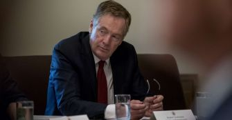 USA Robert Lighthizer, en charge du commerce dans l_administration Trump.lighthizer