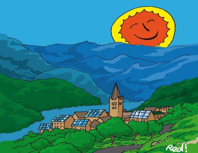france A Puy-Saint-André, une société d_économie mixte co-financée par les habitants produit de l_électricité « propre ».arton7832-8f006