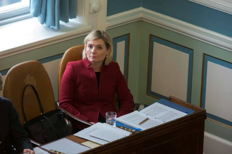 islande Lilja Alfredsdóttir, le 8 avril 2018 à Reykjavik, en Islande ( AFP-Archives- HALLDOR KOLBEINS )4bdef5460e6e60637124f341525b0835-768x512