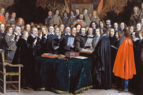 la Paix de Münster et d_Osnabrück en 1648. munster-gerard-ter-borch