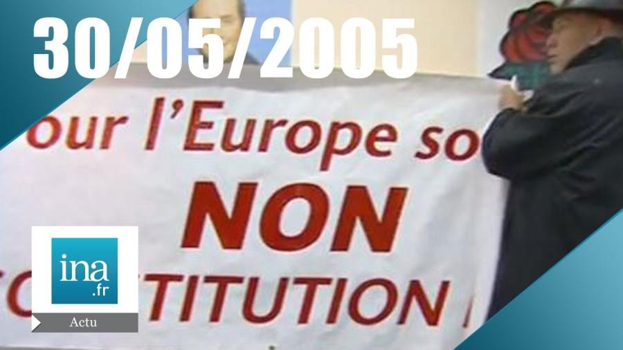 referendum 2005 20h France 2 du 30 Mai 2005 - Rejet du référendum sur l'Europe - Archive INA - YouTubemaxresdefault