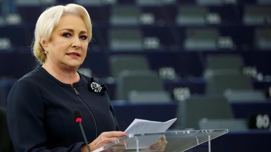 ROUMANIE La Première ministre roumaine Viorica Dancila a vigoureusement défendu son pays devant le Parlement de StrasbourgB9717133254Z.1_20181003191436_000+GLRC5EAOK.2-0