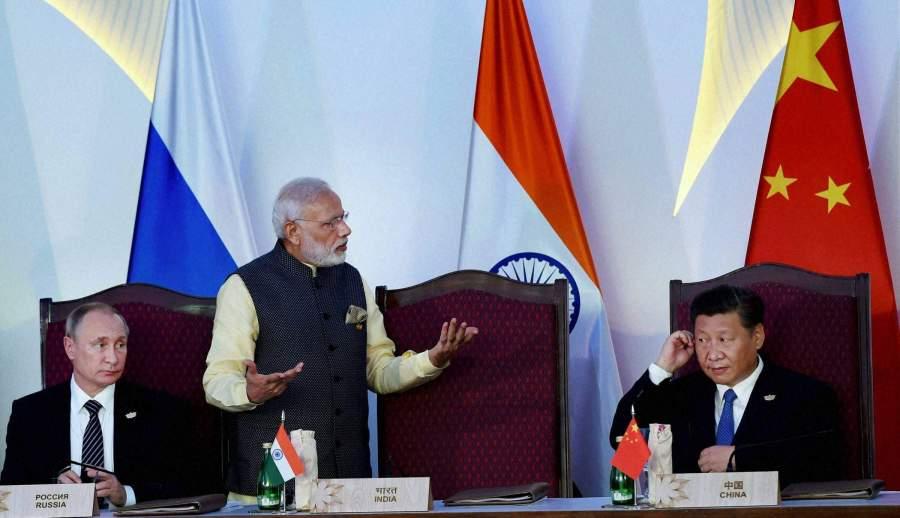 sommet au format Russie-Inde-Chine Modi-PTI-1
