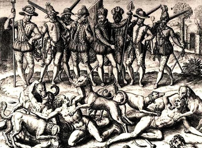 w_grabado-para-la-brevisima-aperreamiento-de-indios-s-xvi-o-theodore-de-bry-la-pagina-de-omar-montilla