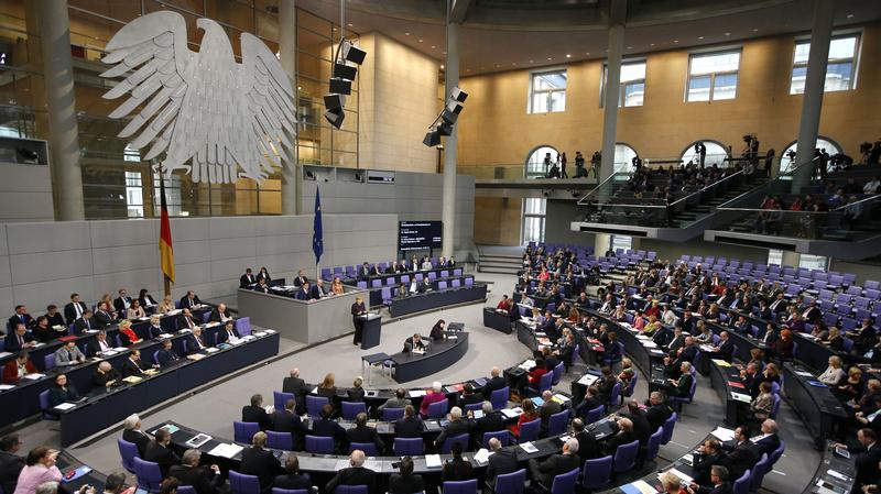ALLEMAGNE Le Bundestag, le Parlement allemand, lors d'une séance en novembre 2015 .8339363.image