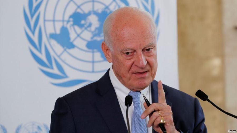 ONU Staffan de Mistura, à Genève, en Suisse, le 4 septembre 2018.C125BDA2-AE21-4DD8-B935-327DB5DC3D75_cx0_cy13_cw0_w1023_r1_s