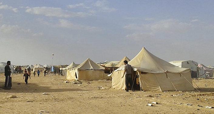SYRIE Le camp de réfugiés syriens d'Al-Rukban 1033797503