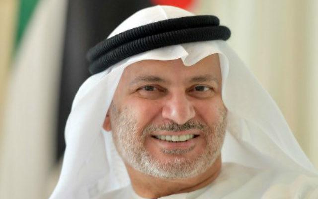 emirats arabes unis anwar gargash, ministre des affaires étrangères des emirats arabes unis, à dubaï000_pc0w31-640x400