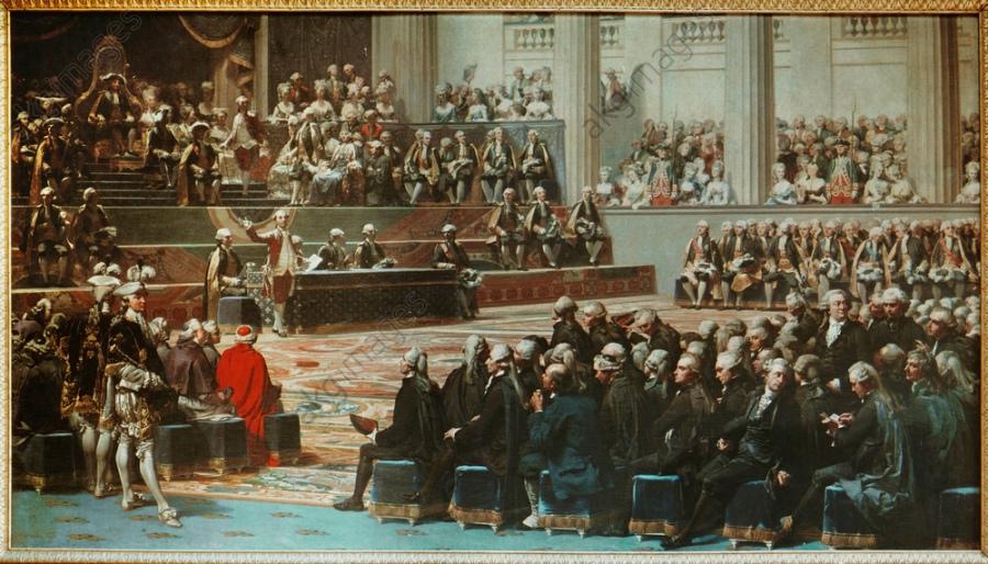 Ouverture des États généraux à Versailles en 1789 / Tableau d'Auguste Couder / 1839