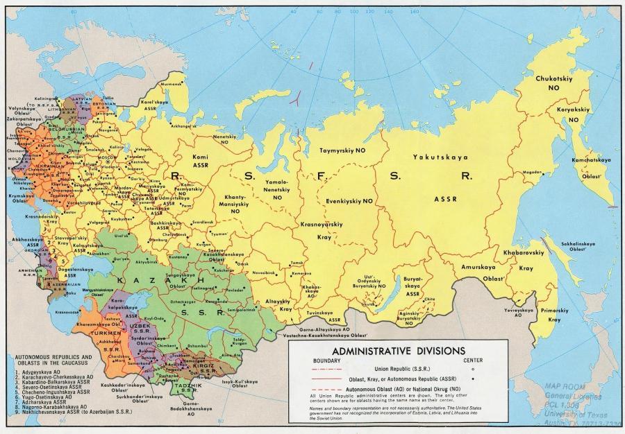 kazakh ... carte-de-l'urss
