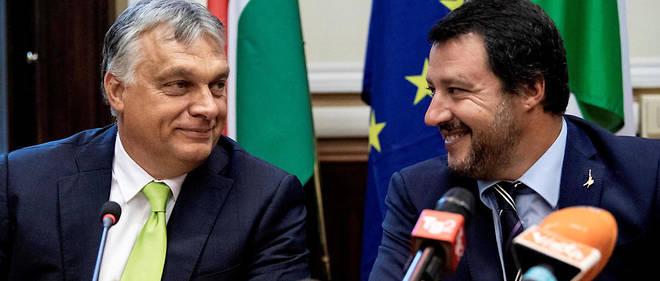 le premier ministre hongrois viktor orbán et le ministre de l'intérieur italien matteo salvini17439994lpw-17442834-article-lrem-ppe-populismes-jpg_5686092_660x281