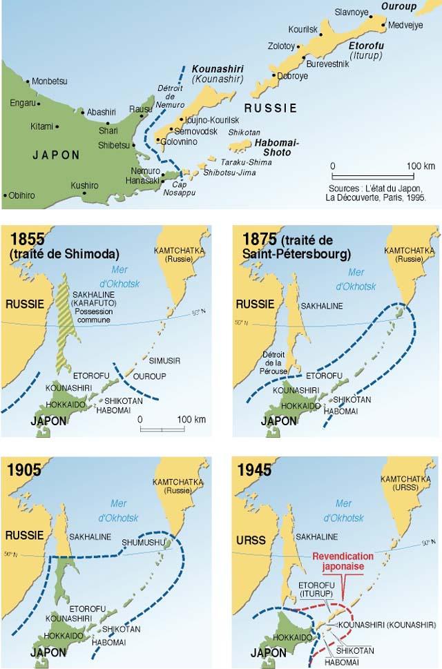 les îles Kouriles carte8155-11f97-d3adc