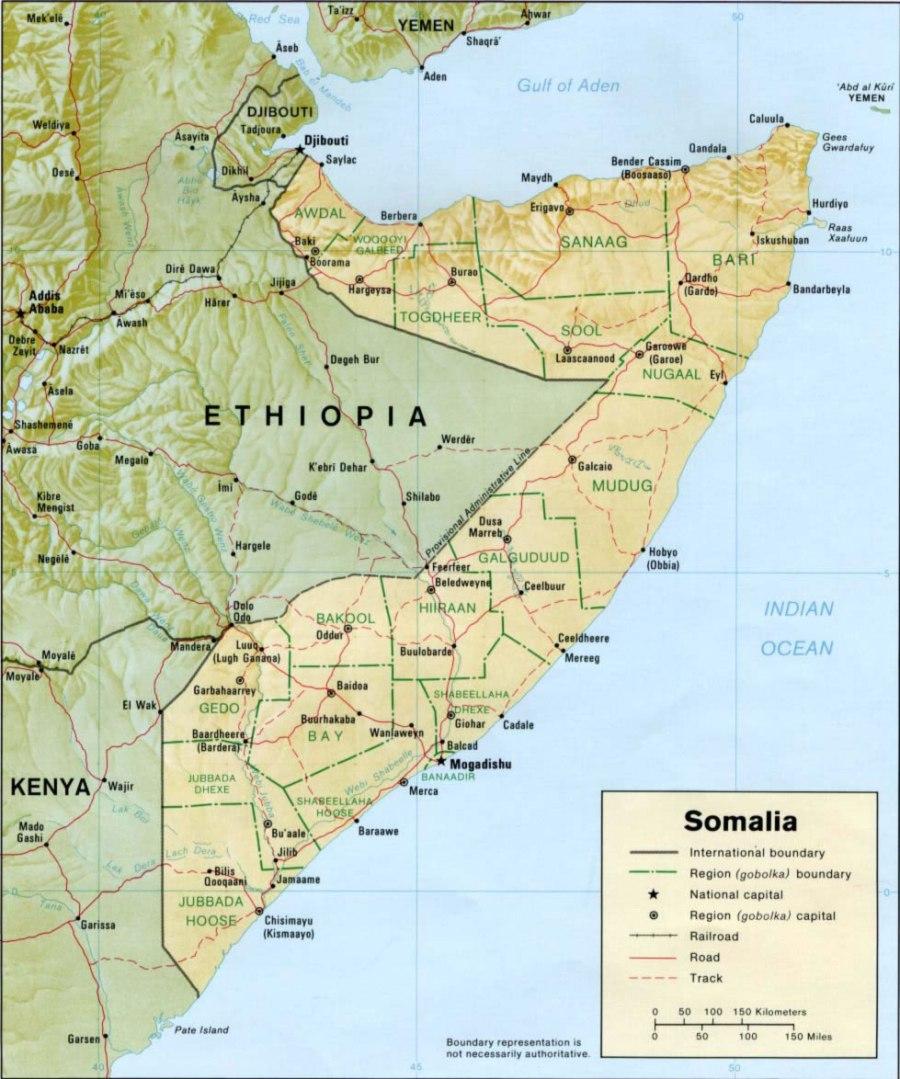 somalie carte-relief-somalie