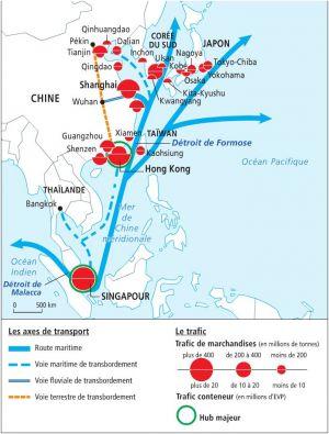 ASIE ORIENTALE route_maritime_m