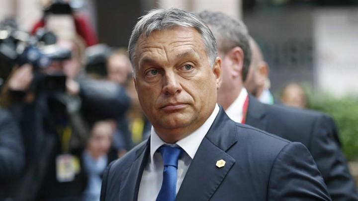 Hungarian Prime Minister Orban arrives at a European Union leaders extraordinary summit on the migrant crisis, in Brussels