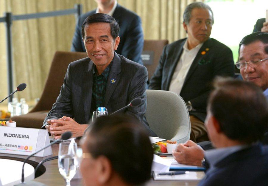 INDONESIE-ASEAN-JOKO-WIDODO Le président indonésien Joko Widodo lors d'une session plénière sur la sécurité en Asie