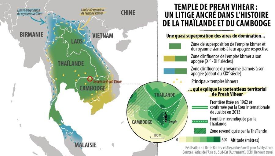 THAILANDE CAMBODGE CARTE-TEMPLE-PREAH-VIHEAR-THAILANDE-CAMBODGE