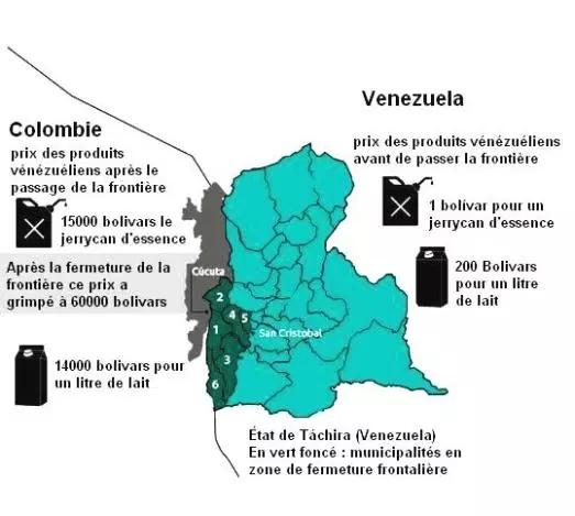 venezuela comombie prix-comparatifs-venezuela-colombie