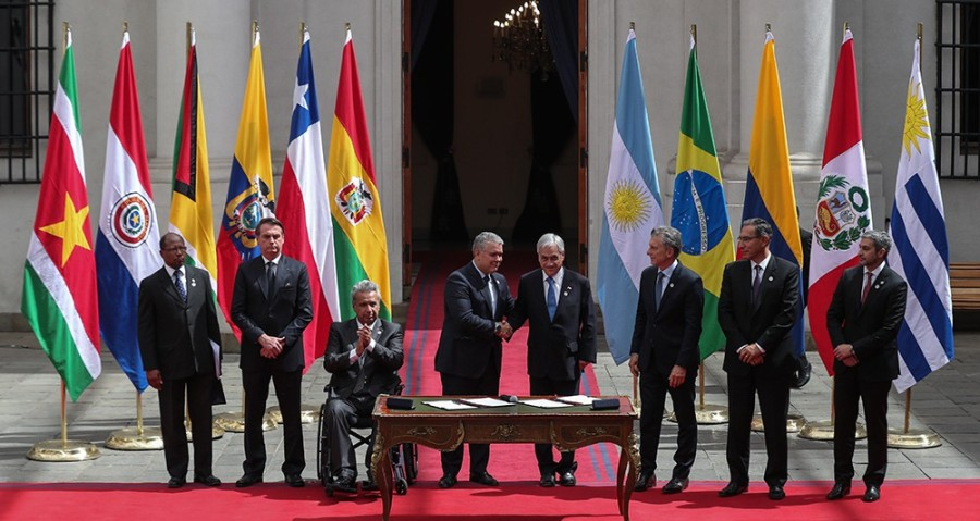 South American presidents sign declaration in Santiago to create Prosur