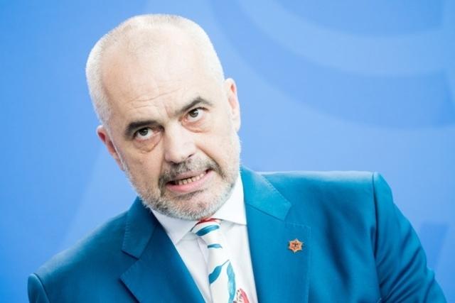 ALBANIE Premier ministre d'Albanie, M. Edi Rama topelement