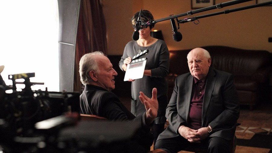 ALLEMAGNE RUSSIE Werner Herzog spent a year interviewing the last President of the USSR, Mikhail Sergeyevich Gorbachev. meetinggorbachev_04-3538663110-1537003373978