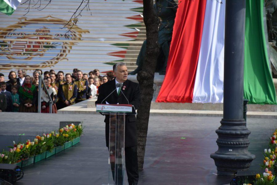 budapest 3 Le Premier ministre hongrois Viktor Orbán lors de son discours à Budapest, le 15 mars 2019 DSC_0250-990x660