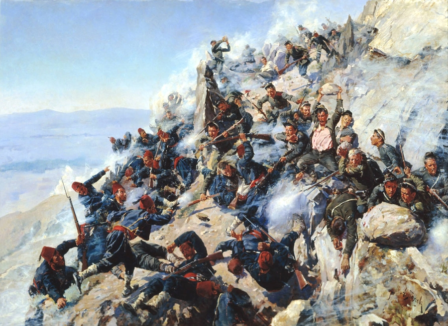 BULGARIE RUSSIE CONTRE LES TURCS The_defeat_of_Shipka_Peak,_Bulgarian_War_of_Independence