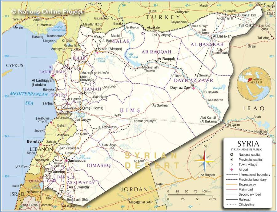 carte-geographique-syrie
