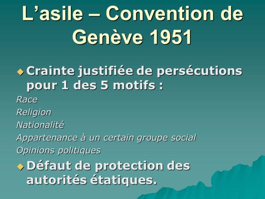 DROIT ASILE L%u2019asile+–+Convention+de+Genève+1951