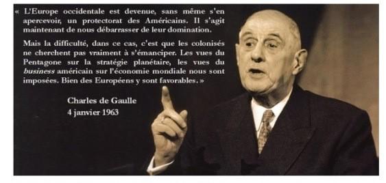 france De Gaulle Protectorat américain