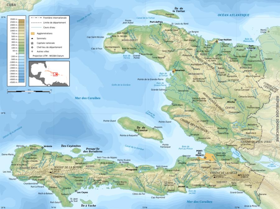 HAITI WIKIPEDIA ALTITUDES 1200px-Haiti_topographic_map-fr