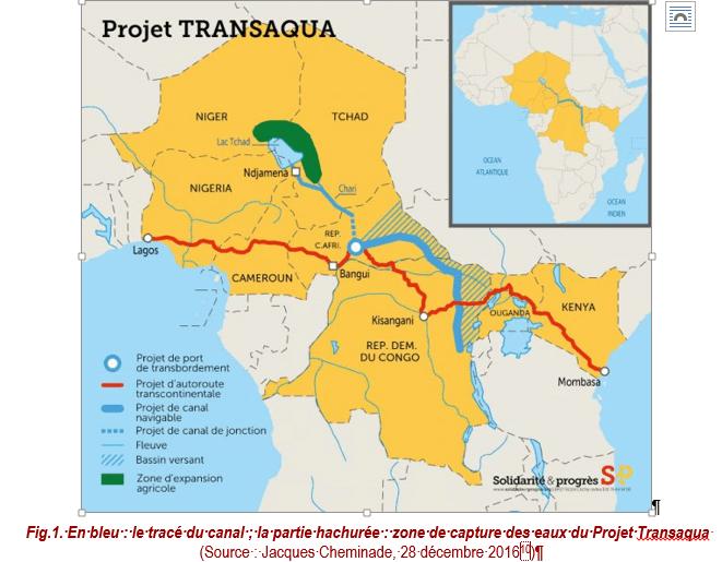 ITALIE S&P le projet Transaqua pour remettre en eau le lac Tchad, Fig1_Canal