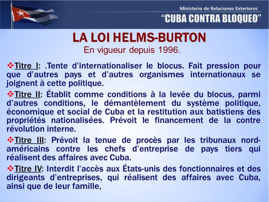 LA+LOI+HELMS-BURTON+En+vigueur+depuis+1996.