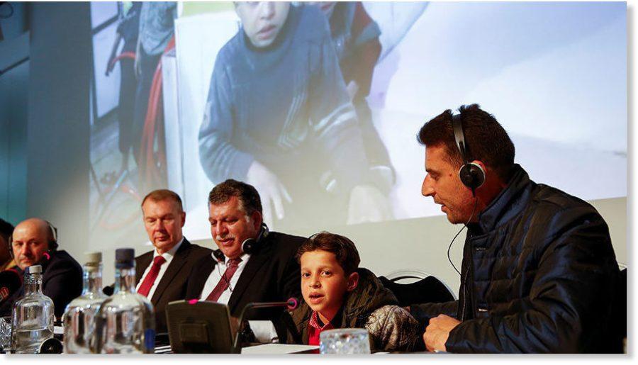 'OIAC une conférence de presse avec les civils douma_