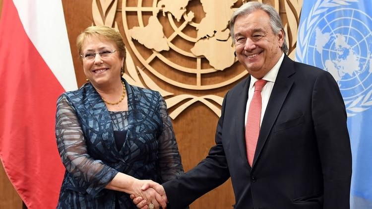 ONU Michelle-Bachelet-Antonio-Guterres-1920
