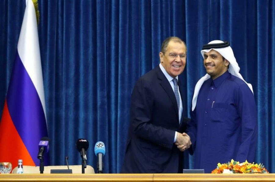 russie quatar 1200435-le-minisqtre-qatari-des-affaires-etrangeres-cheikh-mohammed-ben-abdelrrahmane-al-thani-au-cours-d-un