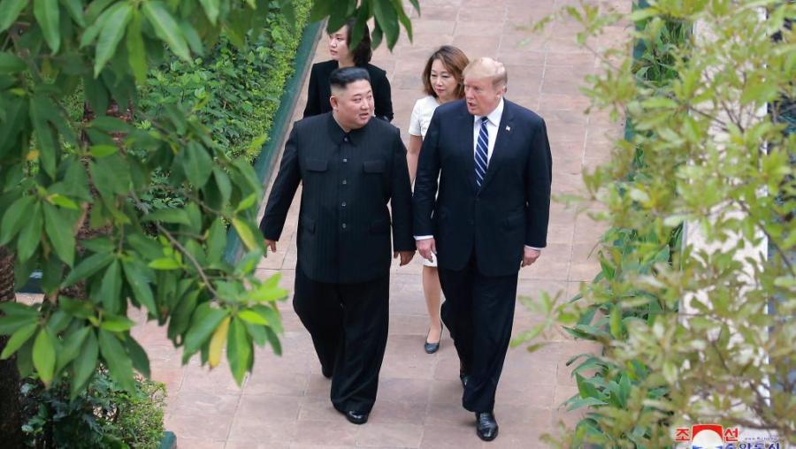 SOMMET DE HANOÎ Kim Jong-un et Donald Trump, le 1er mars 2019 à Hanoï, au Vietnam.2019-02-28t222532z_187670142_rc1ab722ce20_rtrmadp_3_north-korea-usa_0