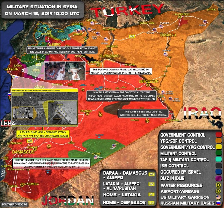 SYRIE la zone de désescalade d'Idleb. 18 MARS 2019 ob_4c3985_18-03-19-syrie