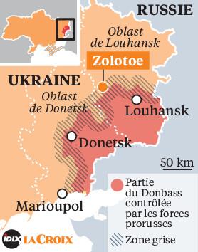 UKRAINE zone du poste de contrôle de Zolotoe LC-20180801-Ukraine-Donbass_0_278_354