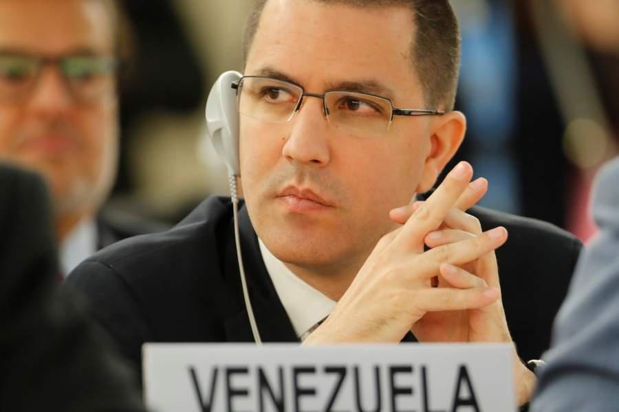 VENEZUELA Venezuela's Foreign Minister Arreaza attends the UN Human Rights Council in Geneva, Switzerland in 2018 arreaza-900x600