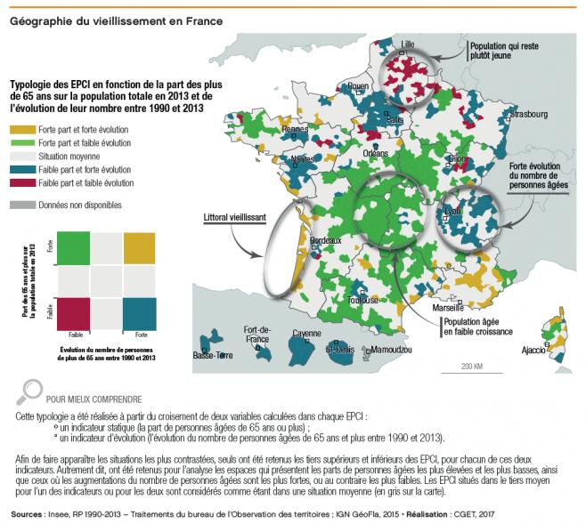 FRANCE Fiche OT - Vieillissement - Geographie du vieillissement en France