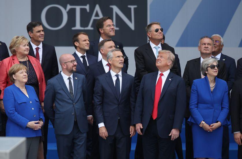 Les dirigeants des pays membres de l'OTAN se réunissent pour le sommet de l'organisation à Bruxelles le 11 juillet 2018• Crédits Sean Gallup - Getty838_gettyimages-996209950