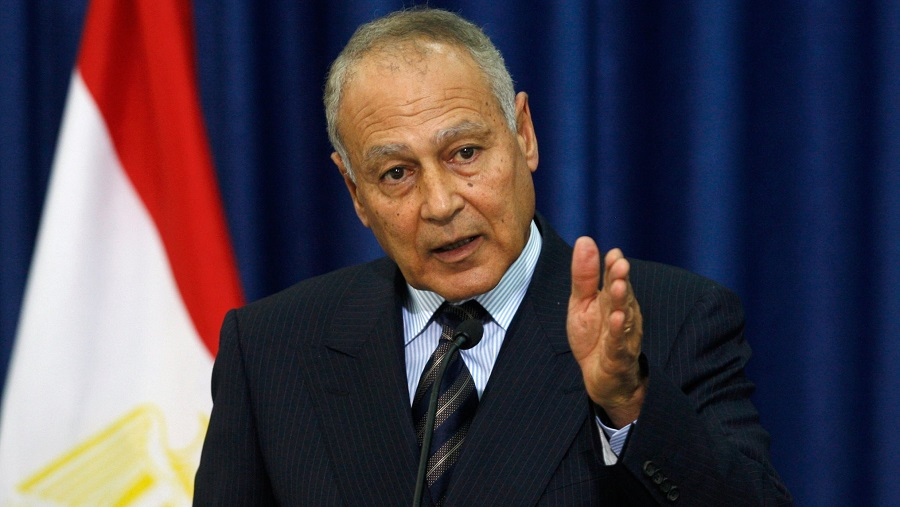 LIGUE ARABE Ahmed Aboul Gheit, secrétaire général de la Ligue arabe.Palestine-Ligue