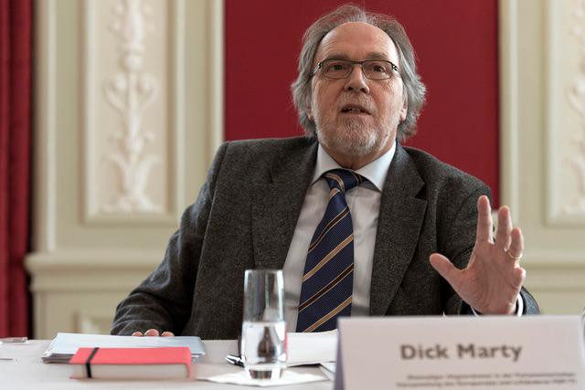 suisse le sénateur suisse Dick Marty,topelement