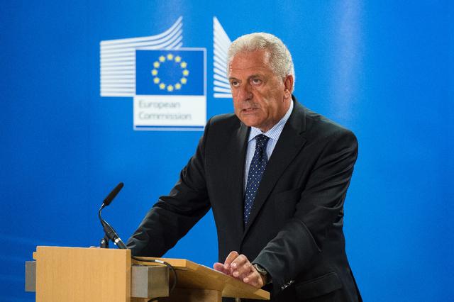 UE Dimitris Avramopoulos, commissaire européen. (photo d'archives)topelement